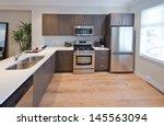 luxury modern kitchen. interior ... | Shutterstock . vector #145563094