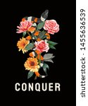 Conquer Slogan With King Snake...