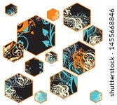 vector ornamented layout...   Shutterstock .eps vector #1455668846