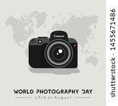 camera vector design  world... | Shutterstock .eps vector #1455671486