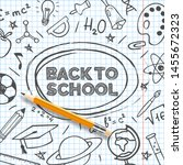 back to school banner template. ... | Shutterstock .eps vector #1455672323