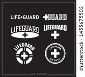 lifeguard  guard  life saver ... | Shutterstock .eps vector #1455675503