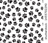 Paw Vector Foot Trail Print Of...