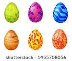illustration easter eggs on... | Shutterstock . vector #1455708056