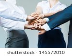 concept of teamwork. business... | Shutterstock . vector #145572010