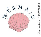 mermaid glitter line star text... | Shutterstock .eps vector #1455730439