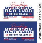 new york brooklyn typography... | Shutterstock .eps vector #1455734126