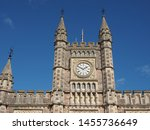 Bristol Temple Meads railway station designed by Brunel in 1840s and extended in 1870s in Bristol, UK