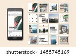 social media pack. business... | Shutterstock .eps vector #1455745169