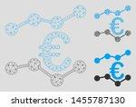 mesh euro trends model with... | Shutterstock .eps vector #1455787130