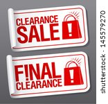 final clearance sale stickers. | Shutterstock .eps vector #145579270