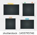 set of empty vintage photo... | Shutterstock .eps vector #1455795740