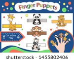 finger puppets. cut and glue... | Shutterstock .eps vector #1455802406