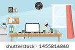 my work table vector in morning   Shutterstock .eps vector #1455816860