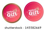 special gift stickers   Shutterstock . vector #145582669