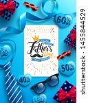 happy father's day with father... | Shutterstock .eps vector #1455844529