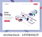 landing page template of valet... | Shutterstock .eps vector #1455844619