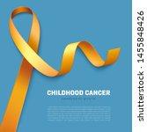 realistic golden ribbon. symbol ... | Shutterstock .eps vector #1455848426