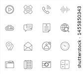 system ui thin line icons set....