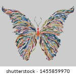 butterfly isolated colorful... | Shutterstock .eps vector #1455859970