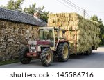Haymaking  Tractor With Hay...