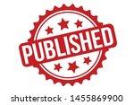 published rubber stamp.... | Shutterstock .eps vector #1455869900