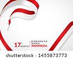 17 august 1945  happy indonesia ... | Shutterstock .eps vector #1455873773