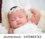Cute Female Baby Newborn In...