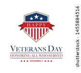 design vector template veterans ... | Shutterstock .eps vector #1455884516