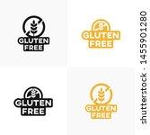 set of gluten free vector icons ... | Shutterstock .eps vector #1455901280