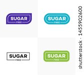 no sugar added product label... | Shutterstock .eps vector #1455902600