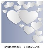 abstract background with hearts | Shutterstock .eps vector #145590646