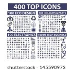 400 top icons set  business ... | Shutterstock .eps vector #145590973