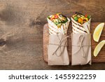 Vegan tortilla wrap  roll with...