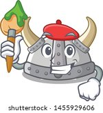 artist viking helmet isolated... | Shutterstock .eps vector #1455929606
