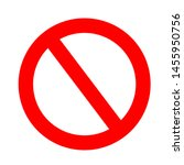 restriction sign red  stop sign ... | Shutterstock .eps vector #1455950756