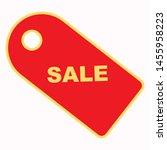sale label icon. flat... | Shutterstock .eps vector #1455958223