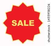 sale label icon. flat... | Shutterstock .eps vector #1455958226