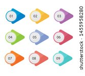 set of labels number button... | Shutterstock .eps vector #1455958280