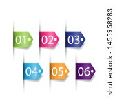 set of labels number button... | Shutterstock .eps vector #1455958283