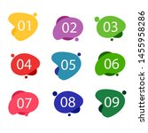 set of labels number button... | Shutterstock .eps vector #1455958286