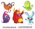 cartoon monsters. set of... | Shutterstock . vector #1455958559
