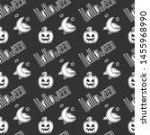 halloween. vector concept in... | Shutterstock .eps vector #1455968990