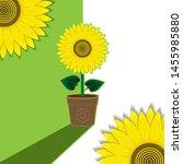 green white plant background... | Shutterstock .eps vector #1455985880