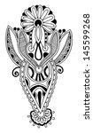 black line art ornate flower... | Shutterstock .eps vector #145599268