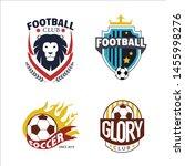 vector logo badge football... | Shutterstock .eps vector #1455998276