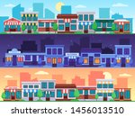 shopping street. small shop... | Shutterstock .eps vector #1456013510