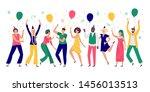 people celebrating. young men... | Shutterstock .eps vector #1456013513
