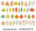 autumn leaves. yellow autumnal... | Shutterstock .eps vector #1456013573