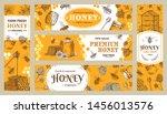 honey banner. healthy sweets ... | Shutterstock .eps vector #1456013576